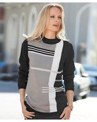 DAMART - Black Colourblock Sweater - Lyst