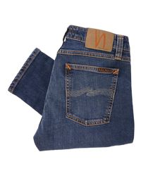 Nudie Jeans Blue Skinny Lin Denim Jeans - Mid Authentic Power 112865 for men