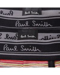 Paul Smith - Paul Smith 2 Pack Black Striped Trunk Amxa- for Men - Lyst