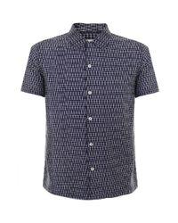 Universal Works | Blue Road Navy Shirt 14163 for Men | Lyst