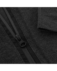 Y-3 Multicolor Zip Charcoal Melange Polo Shirt B47575 for men