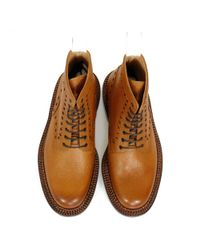 GRENSON - Brown Neighborhood X Charles Tan Leather Boot 110939 for Men - Lyst