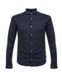 Armani Jeans | Armani Notte Blue Knit Polo Shirt for Men | Lyst