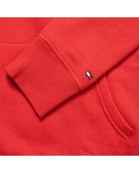 Tommy Hilfiger Red Tommy Logo Hoodie for men