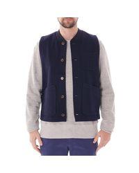 Universal Works Blue Chore Waistcoat - Navy for men