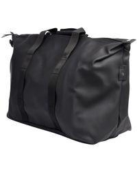 Rains Black Weekend Bag for men