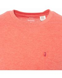 Levi's Pink Sunset Pocket T-shirt for men
