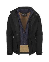 Schott Nyc Black Field Parka Jacket for men