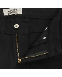 Naked & Famous Naked And Famous Skinny Guy Black Jeans for men