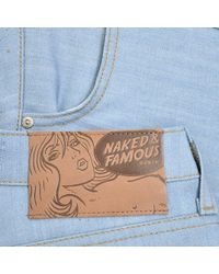 Naked & Famous Naked And Famous Skinny Guy Sky Blue Denim Jeans for men