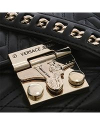 Versace Jeans Lucy Black Quilted Cross-body Bag