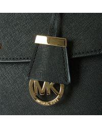 Michael Kors Ava Medium Satchel Black Leather Saffiano Tote Bag