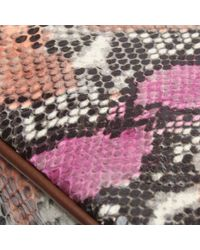 Daniel Footwear Multicolor Fuchsia Reptile Leather Cross-body Bag