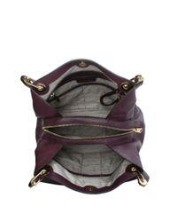 Michael Kors - Multicolor Raven Large Damson Leather Shoulder Bag - Lyst
