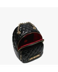 Love Moschino Small Quilted Black Backpack