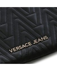 Versace Jeans Steph Black Quilted Mini Cross-body Bag