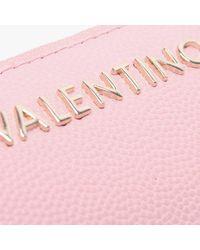 Valentino By Mario Valentino Divina Pink Zip Around Wallet