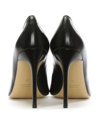 Vittorio Valsecchi Vittie Black Leather Court Shoe