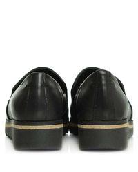 Daniel Georgetown Black Leather Low Wedge Loafer