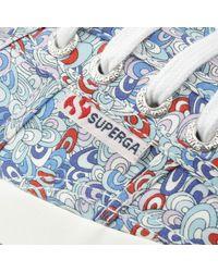 Superga Liberty 2750 Rainbow Rave Blue Lace Up Trainer