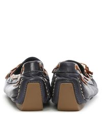 Moda In Pelle Blue Alivia Navy Leather Moccasin