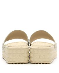 Ash Metallic Scream Gold Studded Flatform Slider
