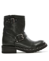Ash Truth Black Leather Biker Boot