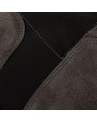 Kennel & Schmenger - Black Zafferano Pewter Suede Elastic Back Riding Boot - Lyst