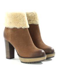 Daniel Brown Maribel Shearling Trim Ankle Boots