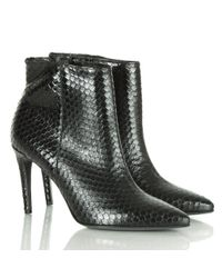 Kennel & Schmenger Montpelier Black Leather Reptile Ankle Boot