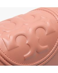 Tory Burch Pink Fleming Convertible Tramonto Leather Shoulder Bag