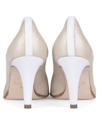 Peter Kaiser Multicolor Sibylle Nude Metallic Suede Peep Toe Court Shoes