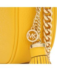 Michael Kors Yellow Ginny Medium Sunflower Leather Messenger Bag