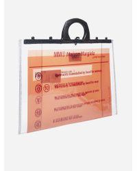 Borsa porta-documenti in PVC con logo di MM6 by Maison Martin Margiela in Multicolor