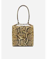 Rejina Pyo Brown Lucie Python-embossed Leather Bag