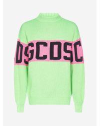 Pull in misto lana con logo di Gcds in Green da Uomo