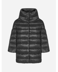 Herno Black Aminta Quilted Nylon Down Jacket