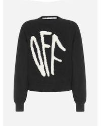 Pull in lana con logo-graffiti di Off-White c/o Virgil Abloh in Black