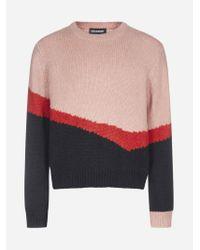 Pull color block in misto lana di Neil Barrett in Multicolor da Uomo