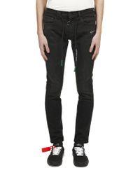 Jeans Skinny di Off-White c/o Virgil Abloh in Black
