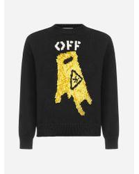 Off-White c/o Virgil Abloh Black Pascal Wet Floor Wool-blend Sweater for men