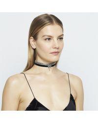 DANNIJO - Metallic Jihan Crystal Choker Necklace - Lyst