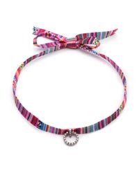 DANNIJO | Red Sabra Striped Choker Necklace | Lyst