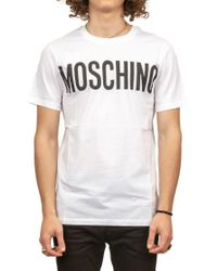 Moschino White Logo T-shirt for men
