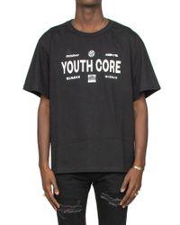 T-SHIRT 'YOUTH CORE' di M I S B H V in Black da Uomo