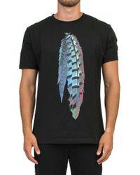 Marcelo Burlon Black 'genek' T-shirt for men