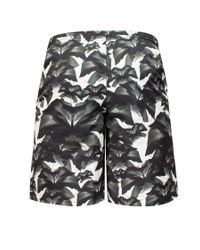 Marcelo Burlon - Gray 'grey Flowers' Swim Shorts for Men - Lyst