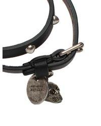 Alexander McQueen - Multicolor 'skull' Double Bracelet With Studs for Men - Lyst
