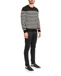 Saint Laurent - Black Striped Sweater for Men - Lyst