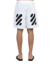 Off-White c/o Virgil Abloh White 'diag Spray' Shorts for men